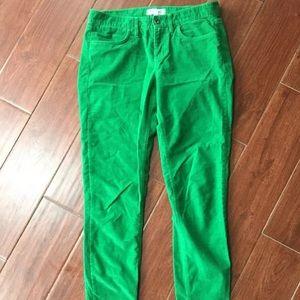 Madewell 28 x 32 Kelly green skinny cords pants